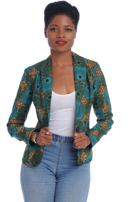 M40714 Ladies African Print Designer Tops Wax Print African Jacket Blazer From China Clothing ...