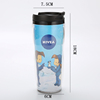 China Supplier stainless steel bamboo fiber plastic coffee mug Glitter Double Wall tumbler
