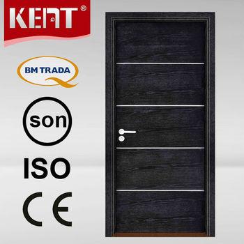 Nice Sound Proof And Heat Insulation Flush Inner Door Design Model W9106 With  Aluminum Strips
