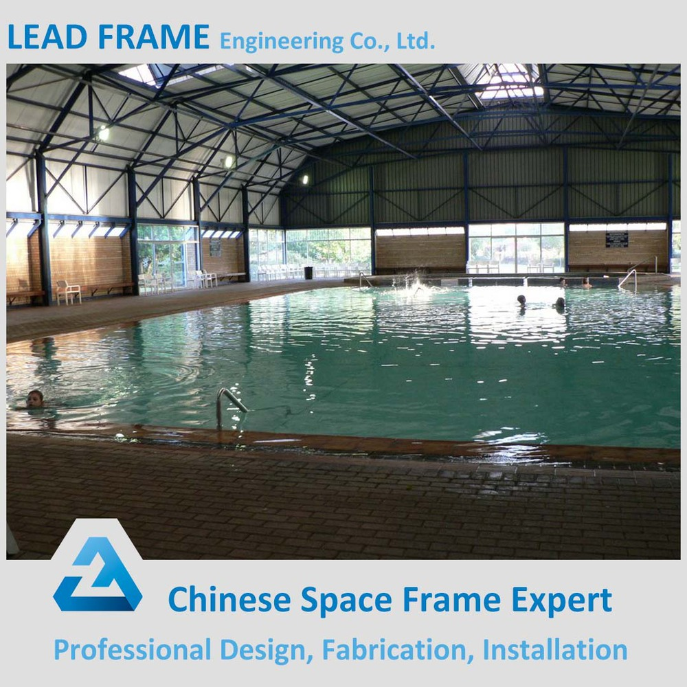 Space frame steel canopy fiberglass swimming pool