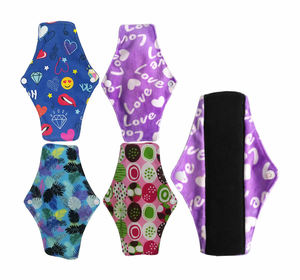 Washable bamboo charcoal women girls feminine menstrual cloth pads reusable soft panty liner breathable sanitary napkin pad