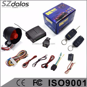 Anti-theft one way car alarm system/ central lock module inside the control box Discount Free Inspection