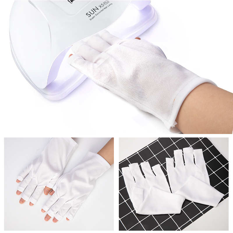 Radiation Protection Gloves Nail Art Tools Anti-UV Hand Protection Gloves For UV Light Manicure Tools 1 Pair
