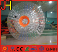 Inflatable crazy rolling grass zord ball, giant PVC adults bubble soccer, body zorb football