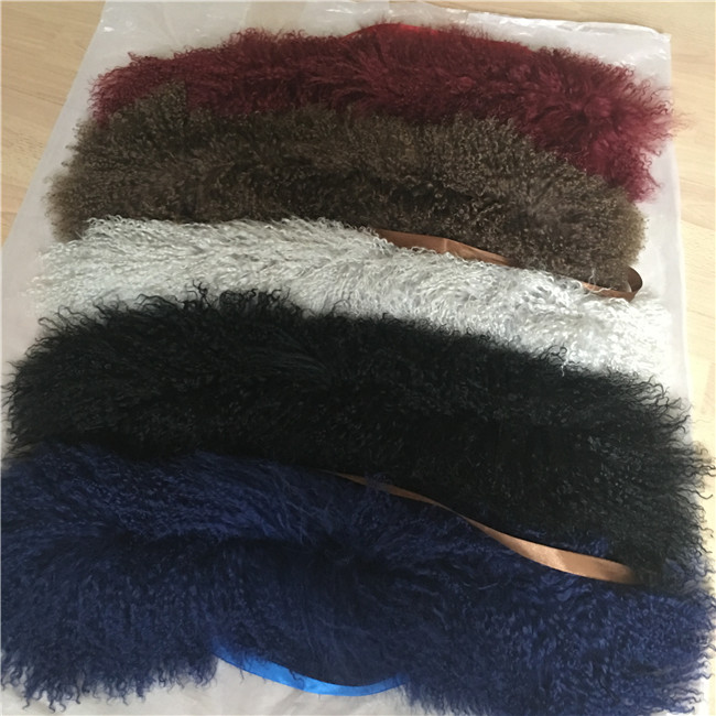 Custom made Long hair sheepskin cuff for women