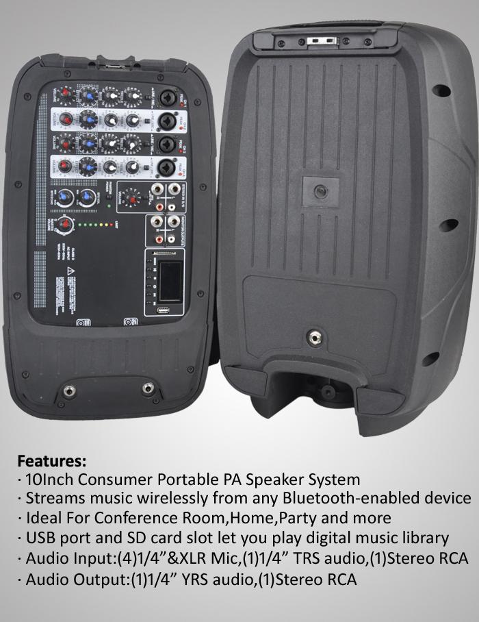 300w portable pa system speaker for sale pml10kit buy speaker for sale music system outdoor pa. Black Bedroom Furniture Sets. Home Design Ideas