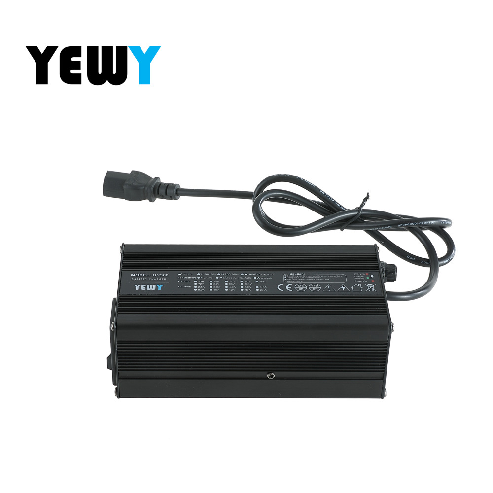 36v 42v 5amp ion battery trickle charger for electric boat battery pack