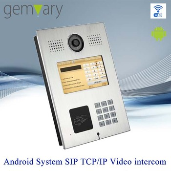 7 Inch Touch Screen Tcpip Multi Apartment Video Door Entry System