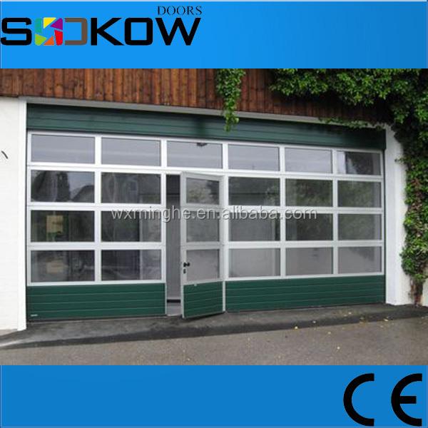 Glass Sliding Door With Pedestrian Access Door/aluminum Glass Panel Garage  Door/glass Garage