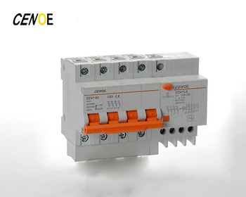 DZ47LE-63 3 Phase Rcbo Rccb Type B 4 Pole 32 A Type Residual Current Device