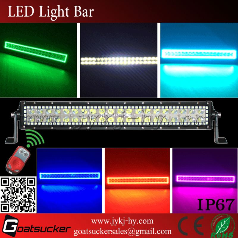 New Products Motorcycle Accessories 240W RGB LED Bar Light Halo, Waterproof IP67 Bar Light<