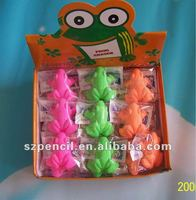 Various color gift for small girls, frog shaped erasers