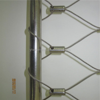 Corrosion Resistant Aisi316 Wire Rope Mesh Net As Balustrade ...