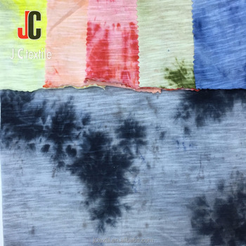 Jc K1283 Multi Color Tie Dying 100 Cotton Slub Knit Fabric For Garments Buy T Shirt 100 Cotton Jersey Knit Fabric Slub Fabric Product On