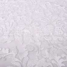 Factory promotion hand cotton embroidery mesh tulle net fabric