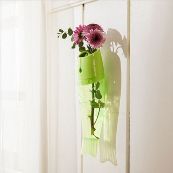 Hydroponics Ikebana Wall Hanging Transparent Plastic Fish Styling