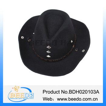 473039380a2 Wool felt black USA western wholesale cowboy hats bulk straw cowboy hat for  man with leather