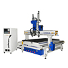 Fully automatic tool change cnc wooden door making machine with middle head mainly for door lock slot milling