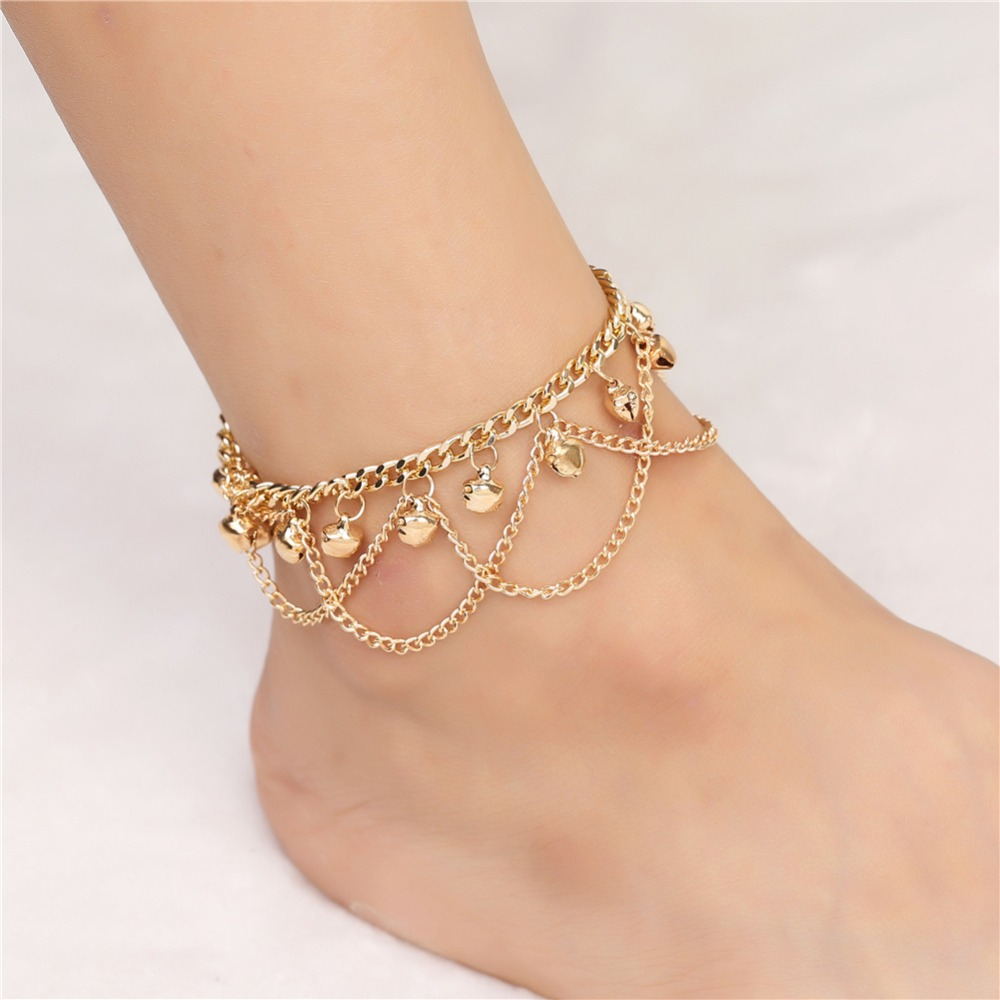 XR-49 Beach Style Retro Girl Indian Bell Anklet