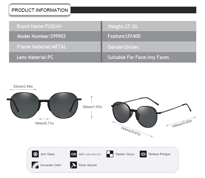 Fuqian stylish sunglasses for ladies manufacturers for women-7