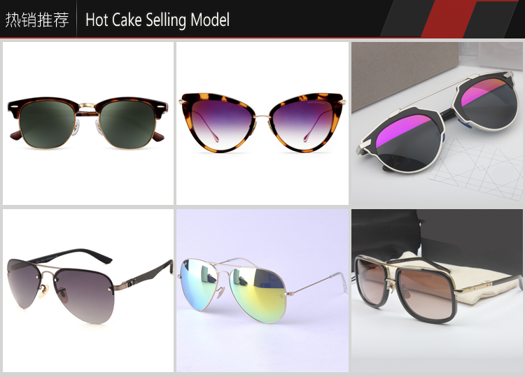 High fashion trapezoid metal frame polarized sunglasses with black lens for men women