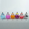 270ml painted ball glass spice jar with metal lid