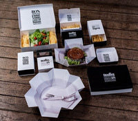 Wholesale Custom Paper Box Restaurant Cafe Fast Food Takeaway Product Packaging