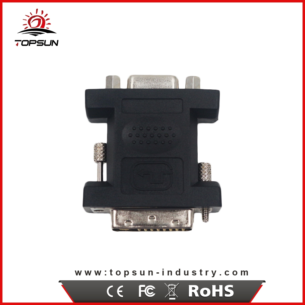 High Quality DVI-I 24+5 Male to vga to av converter