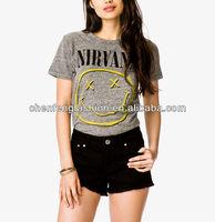 CHEFON Nirvana graphic rayon polyester cotton t shirt CB0608