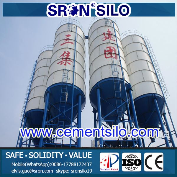 Factory Price Types Of 200 ton Capacity Cement Silo Used In Concrete Batching Plant