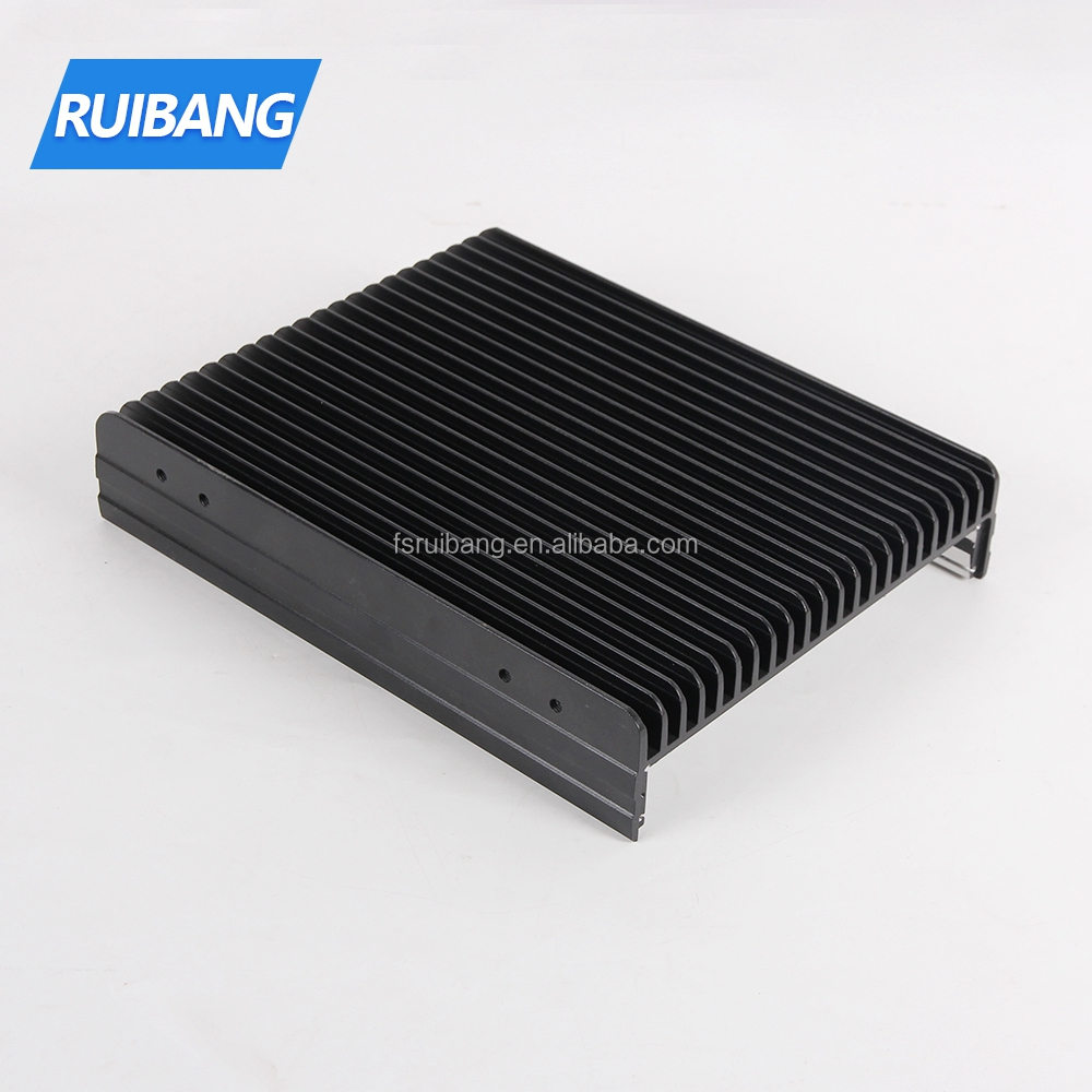 Buy aluminum profiles online wall mounting black color anodized extrusion aluminum profiles