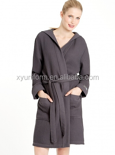 85efe3c43f5 OEM factory woman usa sex sex pink waffle robe de soiree for woman elegant  design at home wear