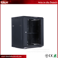 Fixed shelf Network 9u 15u wall mounted hang server rack
