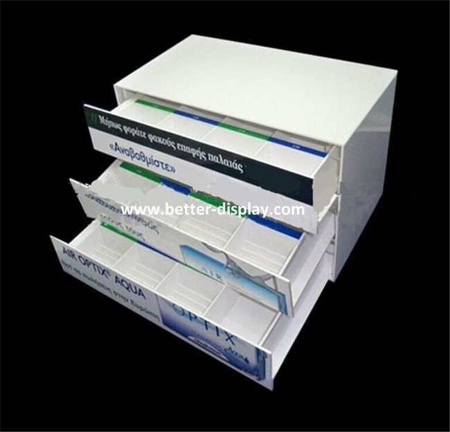 Custom Acrylic Contact Lenses Display Cases with logo