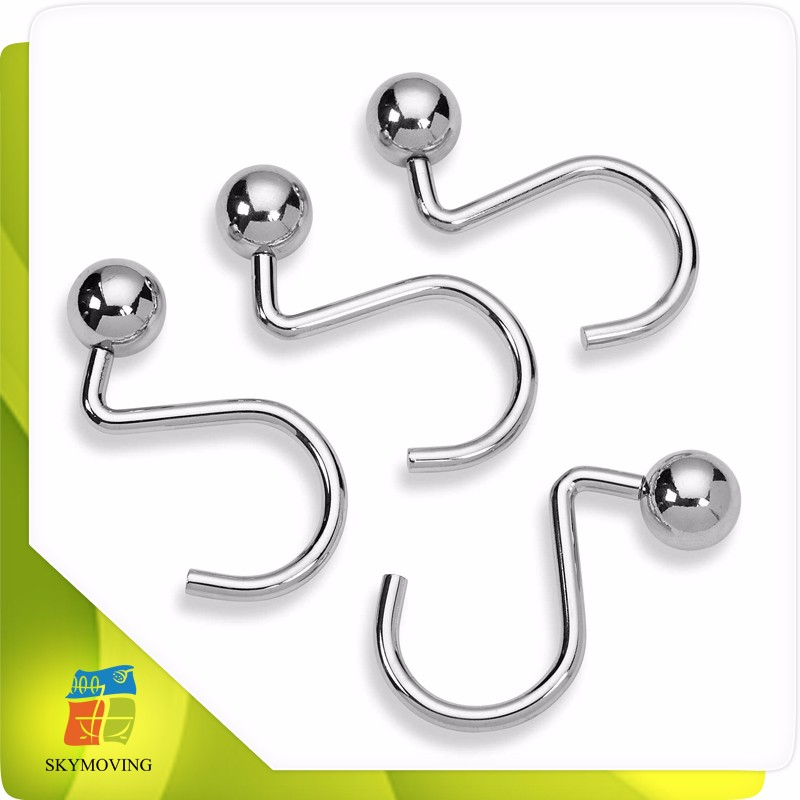 Multi Color Metal Shower Curtain Hooks With Rollers Shower Curtain Rings Buy Shower Curtain