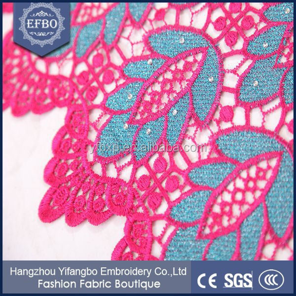 2016 New Leaf Design Guirpure Embroidery Lace/ Top One China ...
