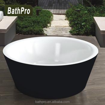 Acrylic material fiberglass outdoor hot tub black and for Fiberglass garden tubs