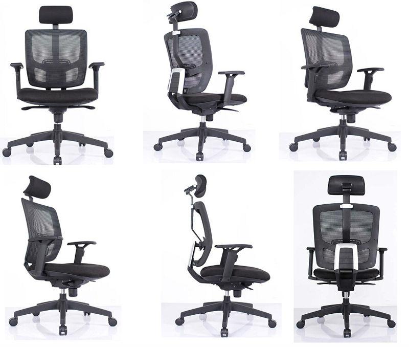 gerente de malla negro silla de oficina para largo tiempo de trabajo