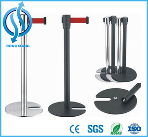 Retractable Belt Barrier Crowd Control Stand Queue Rope Barrier