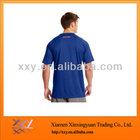 Men's Dark Blue Mesh Cotton Shirt with Pigment Printing and Embroidered Pattern