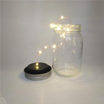 Groothandel Alibaba China Glazen Pot Glazen Pot Vuurworm Solar Led ...