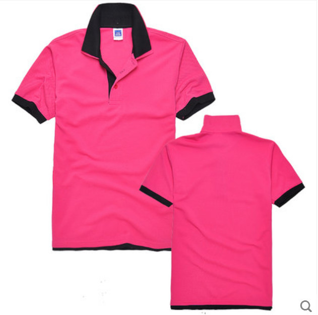 Hot Sell Custom Double Layers Collar Polo Shirt Two Color