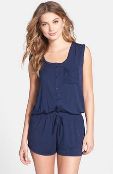 Wholesale Factory Low Price Summer Sexy Adult Ladies Navy Modal Knit Sleep  Pajamas Onesie 05dad40ea