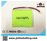 12V Nimh 2/3AAA 300mah rechargeable battery pack