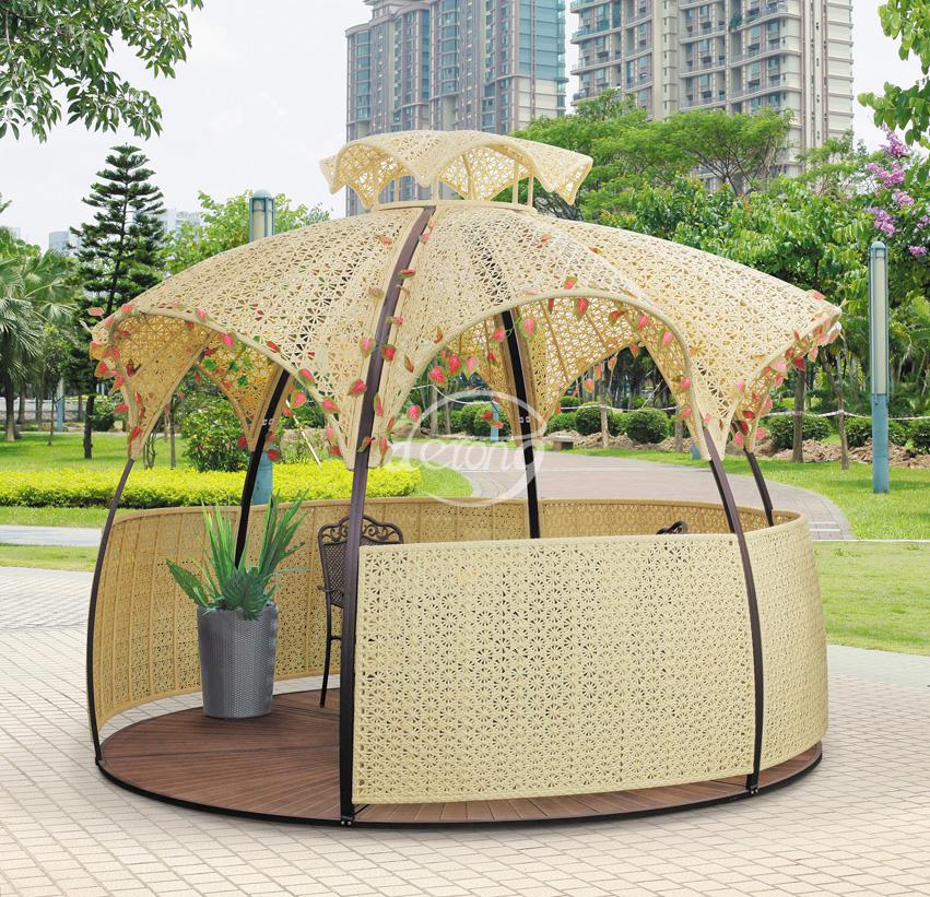 Garden Furniture Gazebo fancy ball shape home outdoor rattan sunshade gazebo furniture