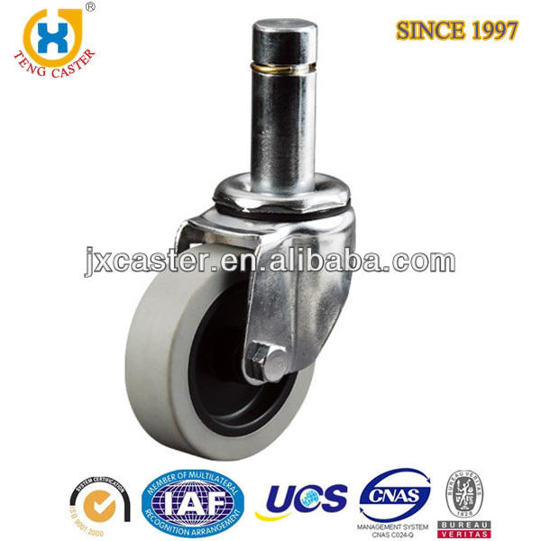 3 inch Medium Duty Caster With friction clip stem,PU caster