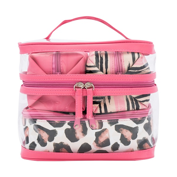 make up pouch cosmetic case organizer bag set