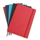 A4 A5 aPromotional PU Leather Notebooks Soft Cover with Emboss Logo