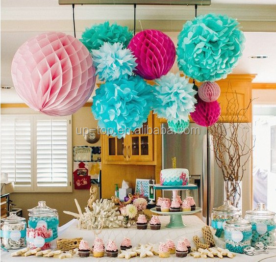 honeycomb party decorations