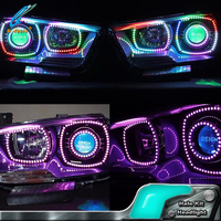 Multi color headlight halo light kit for Dodge Changer 2011-2014